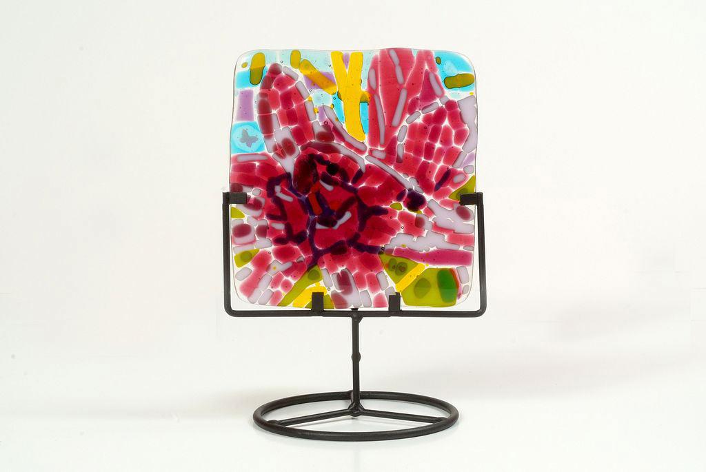 magnolias-fused-glass