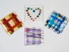 Glass coasters, fused glass