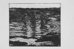 Children-holding-hands-reflections-39.5x31-etching-2