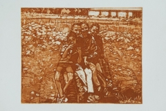 Children-on-a-log-36x39.5-etching-2