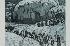 Penguins-at-Boulders-Bay-38x33-etching-1